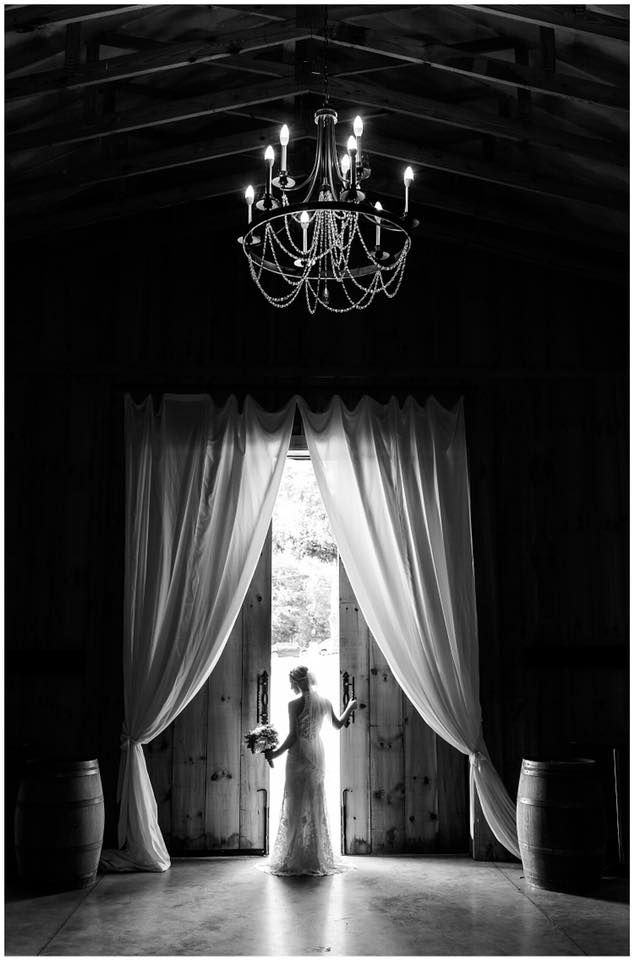 Bride at Barn Door