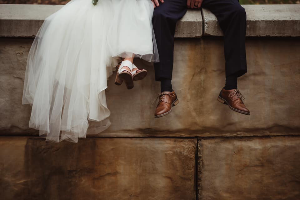 Wedding Couple Feet